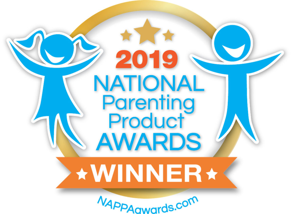 The NAPPA award was received in 2019 for having an outstanding children's product as chosen by parents.