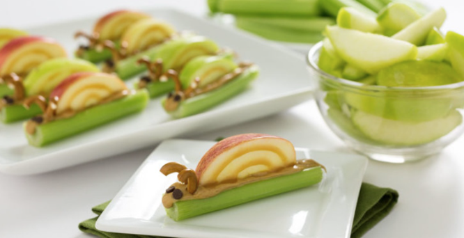 Ants on a log is a fun and nutritious workout snack for kids.